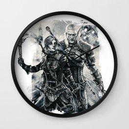 Geralt and Cirilla Wall Clock