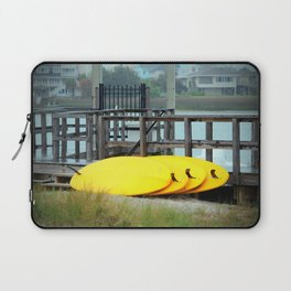 Four Yellow Surfboards Laptop Sleeve