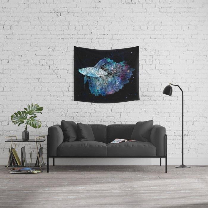 Betta Fish Galaxy Wall Tapestry