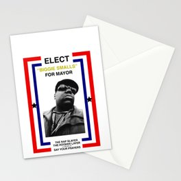 Biggie Smalls for Mayor Stationery Cards