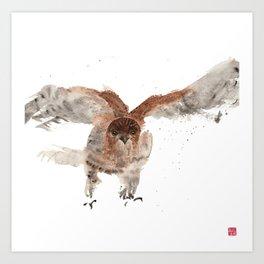 Hawk on the Hunt Art Print
