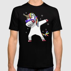 Dabbing Unicorn Shirt Dab Hip Hop Funny Magic Black LARGE Mens Fitted Tee