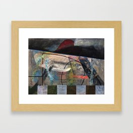 My Garden with a Mountain View (oil on canvas) Framed Art Print