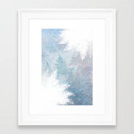 Fern Snowflakes - Taupe, Aqua & Blues Framed Art Print