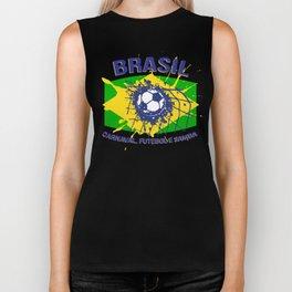 Brasil Carnaval, Futebol e Samba  Biker Tank
