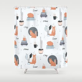 Foxes at home Shower Curtain