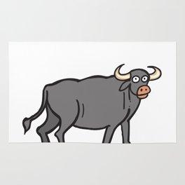 Deja Moo Funny Bull Pun Rug