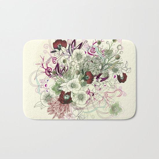 Zentangle Floral mix II Bath Mat