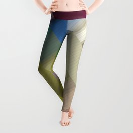 Abstract gradient art geometric background with soft color tone, cell grid. Ideal for artistic conce Leggings