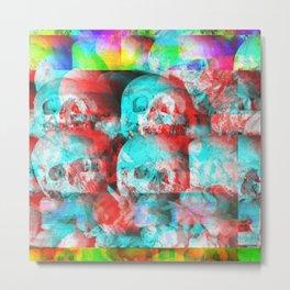 Skulls and Bones Metal Print