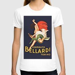 Vintage Bellardi Vermouth Advertising Poster T-shirt