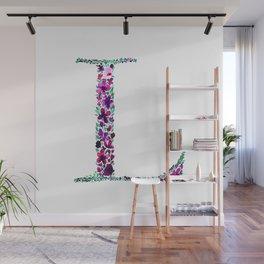 Floral Monogram Letter L Wall Mural