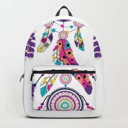 Colorful dream catcher on arrow Backpack