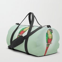 Conure with a heart on its belly Duffle Bag