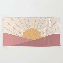 Morning Light - Pink Beach Towel