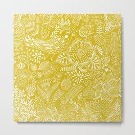 Yellow birds Metal Print