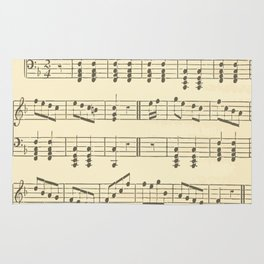 Music Note Pattern Rug