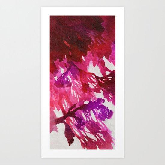 Morning Blossoms 2 - Magenta Variation Art Print