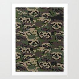 Sloth Camouflage Art Print