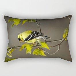 Goldfinch in Song Rectangular Pillow