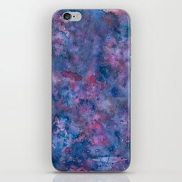 purple dream - watercolor abstract iPhone Skin