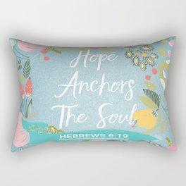 Hebrews 6:19 – Hope Anchors The Soul Rectangular Pillow