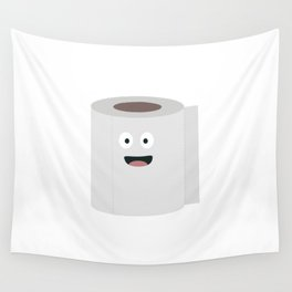 Toilet paper with face Wall Tapestry