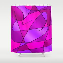 ABSTRACT CURVES #2 (Purples, Violets, Fuchsias & Magentas) Shower Curtain