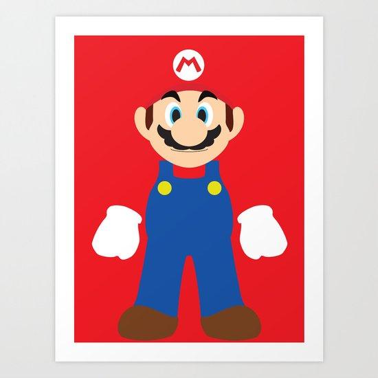 Mario - Minimalist - Nintendo Art Print