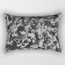 Black Watercolor on White Background Rectangular Pillow