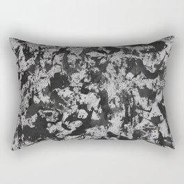 Black Watercolor on White Background Rectangular Pillow