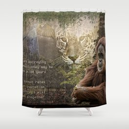 Rain forest Story Shower Curtain
