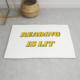 READING IS LIT - yellow Rug