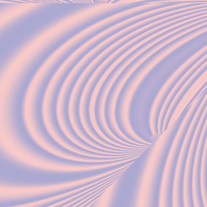 Whirly Bloom Fractal in Rose Quartz and Serenity Leggings