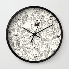 Faces of Math (no color edition)  Wall Clock