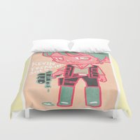 kevin russ Duvet Covers featuring Kevin Freakin' Solo by Ravenno