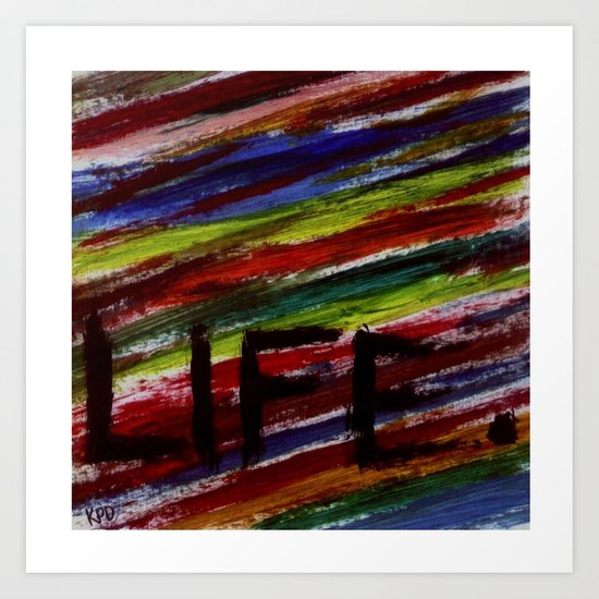 Life by KPD (Stretched) Art Print
