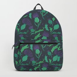 Scottish Thistle Pattern Backpack