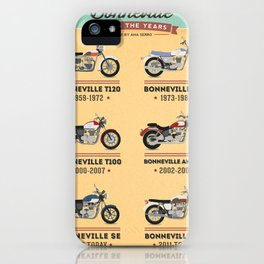 Bonneville Along the Years iPhone Case