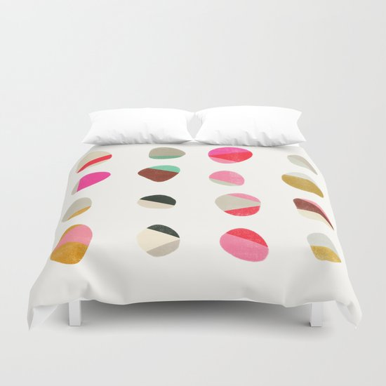 painted pebbles 1 Duvet Cover