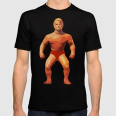 Stretch Armstrong Black Mens Fitted Tee X-LARGE