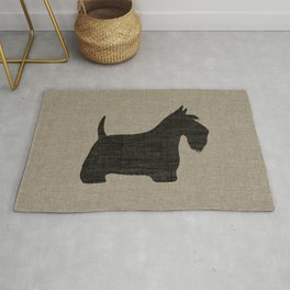 Scottish Terrier Scottie Silhouette Rug