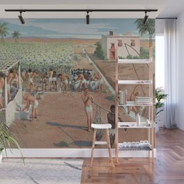 Classical Masterpiece Egyptian Laborers Harvest Grapes by Herbert Herget Wall Mural