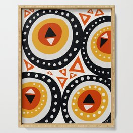 African Abstract Art Pattern Serving Tray