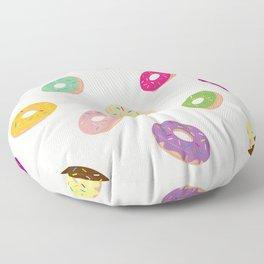 Donuts Pattern | Pastel Pink Floor Pillow