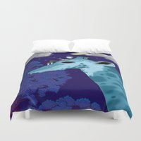 fishing Duvet Covers featuring Fishing by Jake Franssen