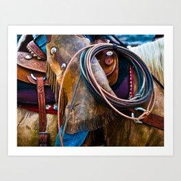 Tools of the Trade - Cowboy Saddle Closeup Art Print