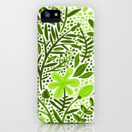 Garden – Lime Green Palette iPhone Case