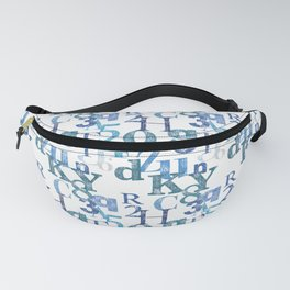 Blue letters Fanny Pack