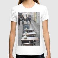 copenhagen T-shirts featuring Copenhagen street cafe by RMK Photography